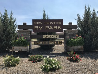 Front Entrance New Frontier RV Park