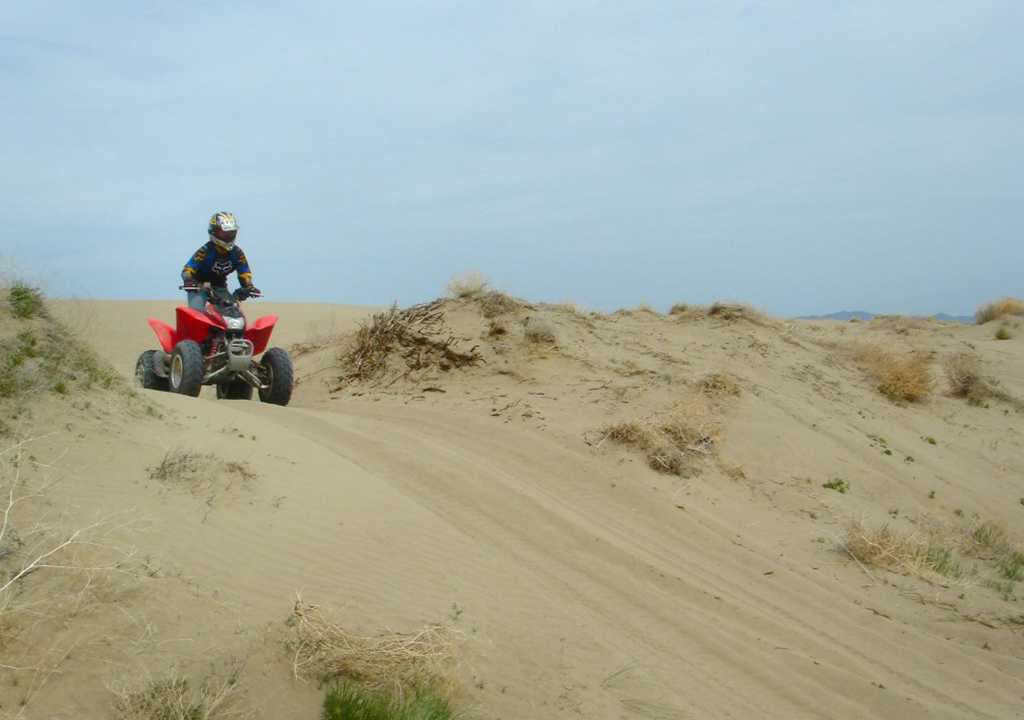 Sand-dunes atv off road trails